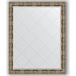 Купить Зеркало с гравировкой Evoform Exclusive-G 93x118 см, в багетной раме - серебряный бамбук 73 мм (BY 4351)