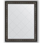 Купить Зеркало с гравировкой Evoform Exclusive-G 95x120 см, в багетной раме - черный ардеко 81 мм (BY 4354)