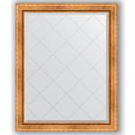 Купить Зеркало с гравировкой Evoform Exclusive-G 96x121 см, в багетной раме - римское золото 88 мм (BY 4361)