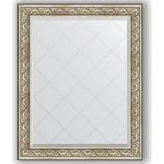 Купить Зеркало с гравировкой Evoform Exclusive-G 100x125 см, в багетной раме - барокко серебро 106 мм (BY 4381)