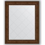 Купить Зеркало с гравировкой Evoform Exclusive-G 102x127 см, в багетной раме - состаренная бронза с орнаментом 120 мм (BY 4386)