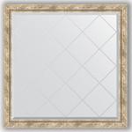 Купить Зеркало с гравировкой Evoform Exclusive-G 103x103 см, в багетной раме - прованс плетением 70 мм (BY 4435)