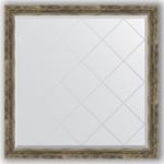 Купить Зеркало с гравировкой Evoform Exclusive-G 103x103 см, в багетной раме - старое дерево плетением 70 мм (BY 4436)