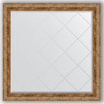 Купить Зеркало с гравировкой Evoform Exclusive-G 105x105 см, в багетной раме - виньетка античная бронза 85 мм (BY 4445)