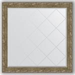 Купить Зеркало с гравировкой Evoform Exclusive-G 105x105 см, в багетной раме - виньетка античная латунь 85 мм (BY 4446)