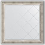 Купить Зеркало с гравировкой Evoform Exclusive-G 106x106 см, в багетной раме - римское серебро 88 мм (BY 4448)