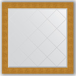 Купить Зеркало с гравировкой Evoform Exclusive-G 106x106 см, в багетной раме - чеканка золотая 90 мм (BY 4452)