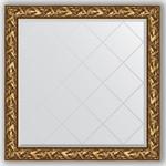 Купить Зеркало с гравировкой Evoform Exclusive-G 109x109 см, в багетной раме - византия золото 99 мм (BY 4457)