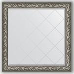 Купить Зеркало с гравировкой Evoform Exclusive-G 109x109 см, в багетной раме - византия серебро 99 мм (BY 4458)