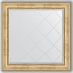 Купить Зеркало с гравировкой Evoform Exclusive-G 112x112 см, в багетной раме - состаренное серебро с орнаментом 120 мм (BY 4471)
