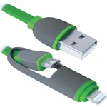 Кабель Defender MicroUSB-Lightning зеленый 1м (USB10-03BP)