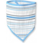 Бандана-нагрудник SwaddleDesigns муслиновая Blue Stripes (SDM-540B)