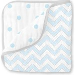 Одеяло муслиновое SwaddleDesigns Luxe Muslin Pale Blue Chevron (SDM-351PB)