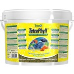 Купить Корм Tetra TetraPhyll Flakes Complete Food for Herbivorous Fish хлопья для всех видов растительноядных рыб 10л (769915)