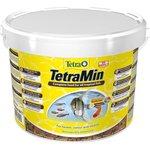 Купить Корм Tetra TetraMin Flakes Complete Food for All Tropical Fish хлопья для всех видов тропических рыб 10л (769939)