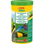 Купить Корм SERA FLORA Floating Flakes Herbal Food плавающие хлопья для растительноядных рыб 1л (210г)
