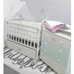 Купить By Twinz Кроватка Версаль поперечный маятник с ящ. белый