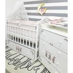 Купить By Twinz Кроватка Зайки поперечный маятник с ящ. белый