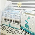 Купить By Twinz Кроватка Маленький Кит поперечный маятник с ящ. белый