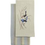 Купить Набор кухонных полотенец Arloni Райские птицы 40х60 см 2 штуки (4057.1)