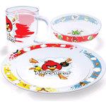 Купить Набор посуды для детей 3 предмета МФК-профит Angry Birds Классик (95592)