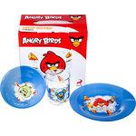Купить Набор посуды для детей 3 предмета МФК-профит Angry Birds Синий (1057901)