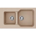 Купить Кухонная мойка Omoikiri Maru 86-2-SA, 860х500, бежевый (4993286)