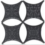 Плитка для пола Absolut Ceramica Estrella Set Core Negro (4 вида в ассорт.) 6.7x6.7