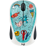 Мышь Logitech M238 Doodle Collection BAE-BEE BLUE