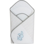 Одеяло-конверт Ceba Baby Bunnies white вышивка W-810-068-100 (Э0000016391)