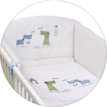 Постельное белье Ceba Baby 3 пр. My Dog blue green вышивка W-801-073-003 (Э0000016402)