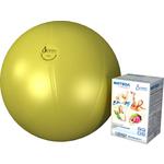Купить Фитбол Альпина Пласт Стандарт желтый, диаметр 750 мм