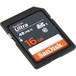 Sandisk SD 16Gb (SDSDUNB-016G-GN3IN Ultra)