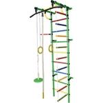Купить Детский спортивный комплекс Формула здоровья Гамма-1К Плюс зелёный- радуга
