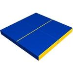 Купить Мат КМС № 11 (100 х 100 10) складной (4 сложения) сине- жёлтый 2635