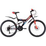Купить Велосипед Black One Ice FS 24 D чёрный- красный- синий