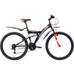 Купить Велосипед Black One Flash FS 26 чёрный- оранжевый- голубой 16
