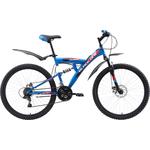 Купить Велосипед Black One Flash FS 26 D голубой- чёрный- оранжевый 18
