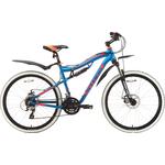 Купить Велосипед Stark 18 Voxter 26.4 FS D голубой- оранжевый- чёрный 20
