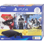 Игровая приставка Sony PlayStation 4 500Gb + Horizon Zero Dawn + God Of War 3 + Uncharted 4 + PS Plus 3мес