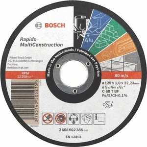 Диск отрезной Bosch 115х22.2х1.0мм Rapido Multi Construction (2.608.602.384)