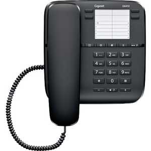 Проводной телефон Gigaset DA410 black дополнительная трубка gigaset a220h для a220