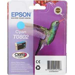 Картридж Epson T0802 Cyan (C13T08024011) 120a afs mini anl fuse holder 2 4ga in 2 4ga out with voltmeter and 120a fuse