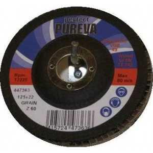 Фотография товара круг лепестковый торцевой PUREVA 180х22.2мм К60 (447563) (106599)