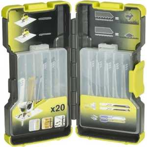 Набор пилок для лобзика Ryobi RAK20JB  набор инструментов ryobi r18ck4a ll99s