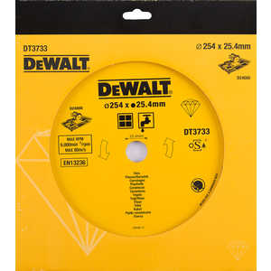Диск алмазный DeWALT 254х25.4мм (DT 3733)