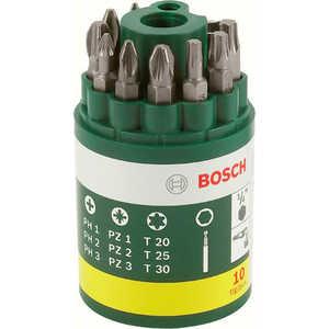Набор бит Bosch 10шт + держатель (2.607.019.452)