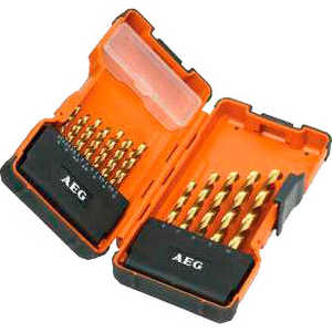 Набор сверл по металлу AEG 2.0-10.0мм 19шт HSS-G (4932352243) набор сверл по металлу bosch standard hss co din 338 5 шт