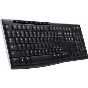 Клавиатура Logitech Wireless Keyboard K270 Black USB (920-003757) rii rt503 2 4ghz wireless bt 3 0 backlit touchpad keyboard black