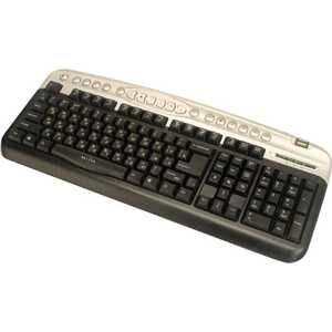 Oklick 330M Multimedia Keyboard Black-Silver PS/2 +USB порт